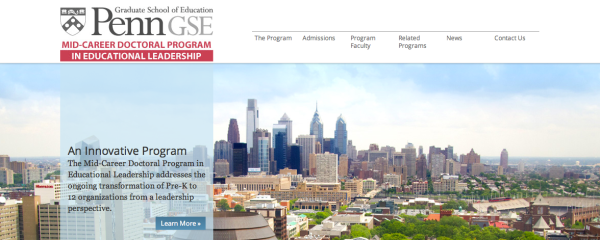 More information on the PennGSE Mid Career Doctoral Program