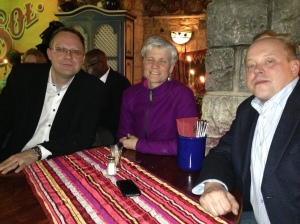 Pictured from left to right: Aki Puustinen, Jennifer Botzojorns, Timo Ilomäki