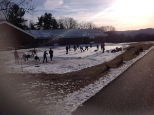 Hockey Rink at Camel's Hump Middle School in Richmond, Vermont